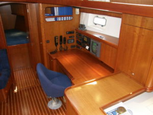 Nordia 50 Ketch - chart table