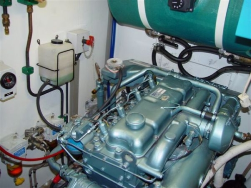 Nordia 50 Ketch sail boat engine room