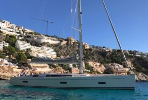 Grand Soleil 54 side view sailing yacht
